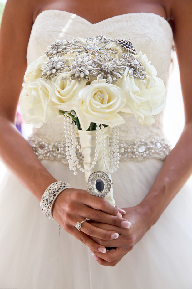 White Wedding Bouquet ~ Trevor Booth Photography