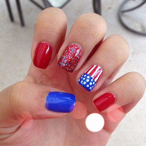 12 American Flag Nail Art Designs Ideas Trends Stickers 2015 4th Of July Nails 9 12+ American Flag Nail Art Designs, Ideas, Trends & Stickers 2015 | 4th Of July Nails