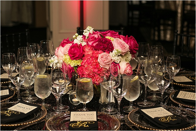 Pink, Gold & Black Wedding at Hotel ZaZa by D. Jones Photography