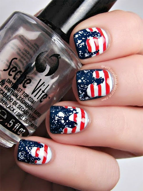 12 American Flag Nail Art Designs Ideas Trends Stickers 2015 4th Of July Nails 6 12+ American Flag Nail Art Designs, Ideas, Trends & Stickers 2015 | 4th Of July Nails