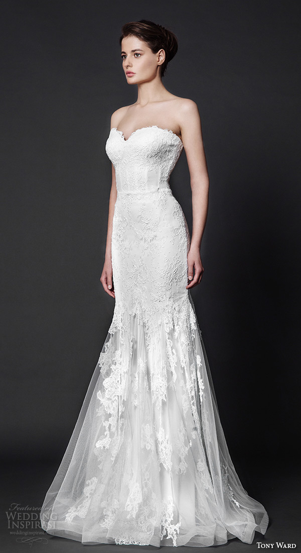 tony ward 2016 bridal strapless sweetheart neckline fit to flare mermaid wedding dress heather