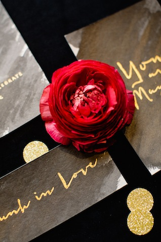 Black and gold escort cards ⎪ Tony Gigov Photography ⎪ see more on: http://burnettsboards.com/2015/07/sultry-marsala-black-wedding/