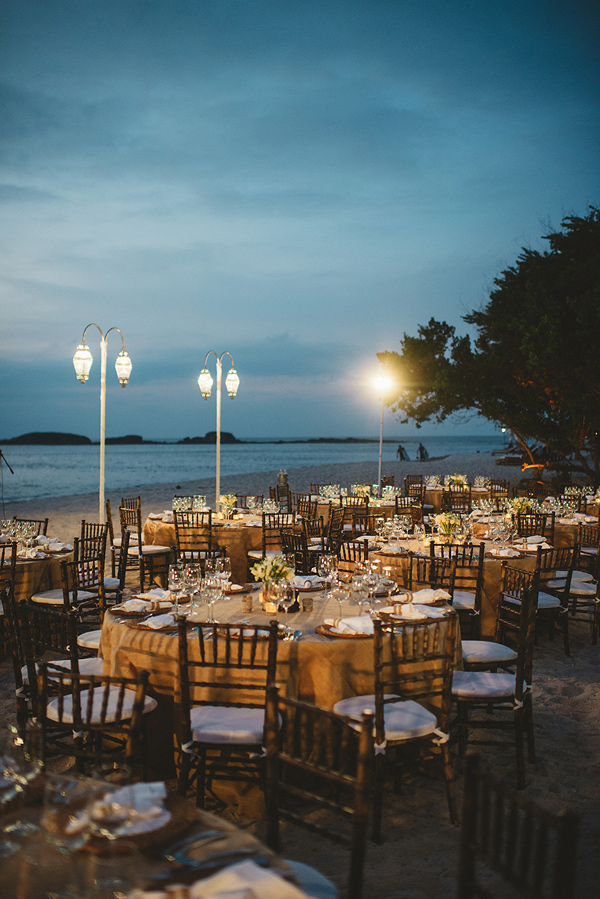 beach wedding reception - photo by Geoff Duncan http://ruffledblog.com/punta-mita-destination-wedding-and-rehearsal-dinner
