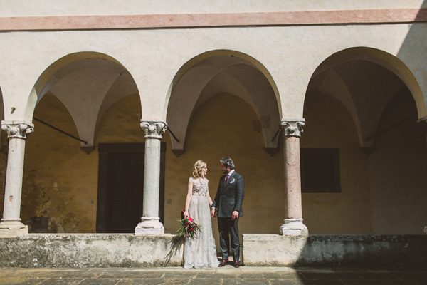 vintage inspired Italian Alps wedding - photo by Darya Kamalova http://ruffledblog.com/vintage-inspired-italian-alps-wedding