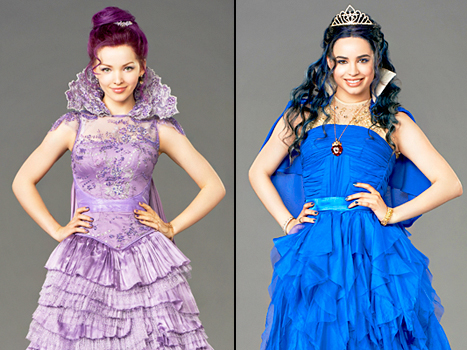 Dove Cameron stars as Mal and Sofia Carson stars as Evie in Disney Channel's