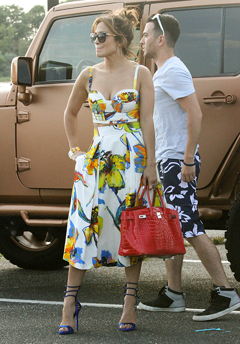 Jennifer Lopez had a fun day out with her family and friends in East Hampton, N.Y. on July 26.