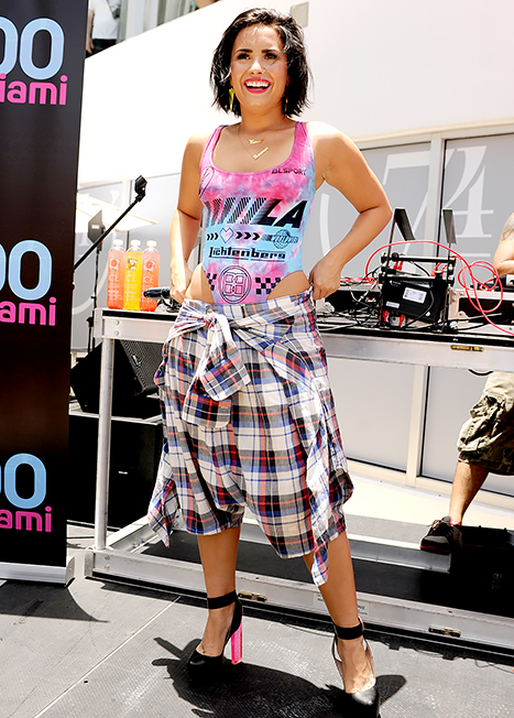 Demi Lovato performs at the Y-100 cool for the summer pool party on July 2.