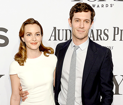 Leighton Meester and Adam Brody (here at the Tony Awards 2014) are expecting their first child together any day now.