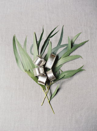 Vintage silver napkin rings | Sarah Hannam | see more on: http://burnettsboards.com/2015/07/classic-wedding-silver-gold/