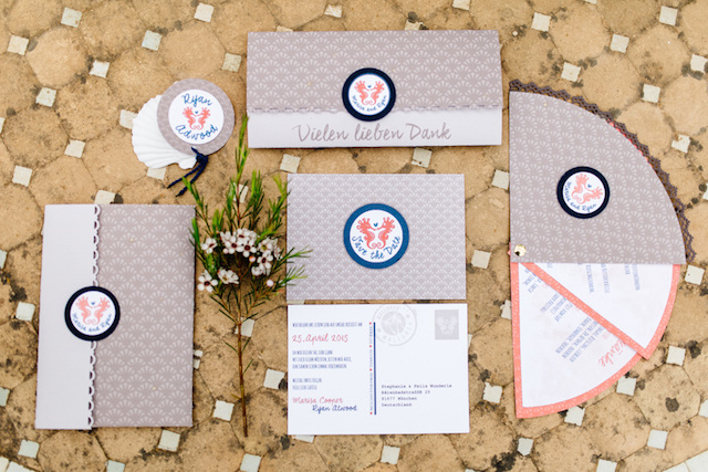 Nautical wedding invitations Something Blue – Wedding Photography | see more on: http://burnettsboards.com/2015/07/destination-wedding-mallorca-start-finish/