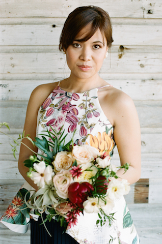Botanical bridesmaid | White Rabbit Studios | see more on: http://burnettsboards.com/2015/07/spanish-styled-shoot/