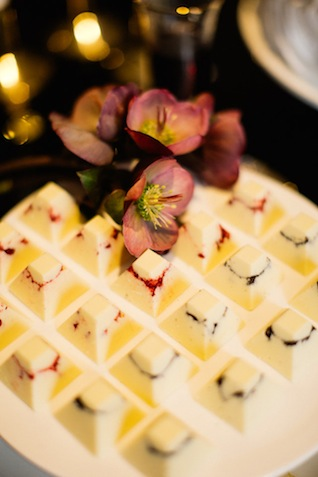 Gourmet white chocolates ⎪ Tony Gigov Photography ⎪ see more on: http://burnettsboards.com/2015/07/sultry-marsala-black-wedding/