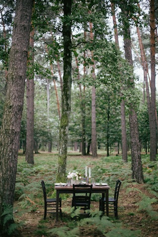 Forest wedding reception ⎪Paola Colleoni⎪see more on: http://burnettsboards.com/2015/07/organic-forest-fern-tablescape/