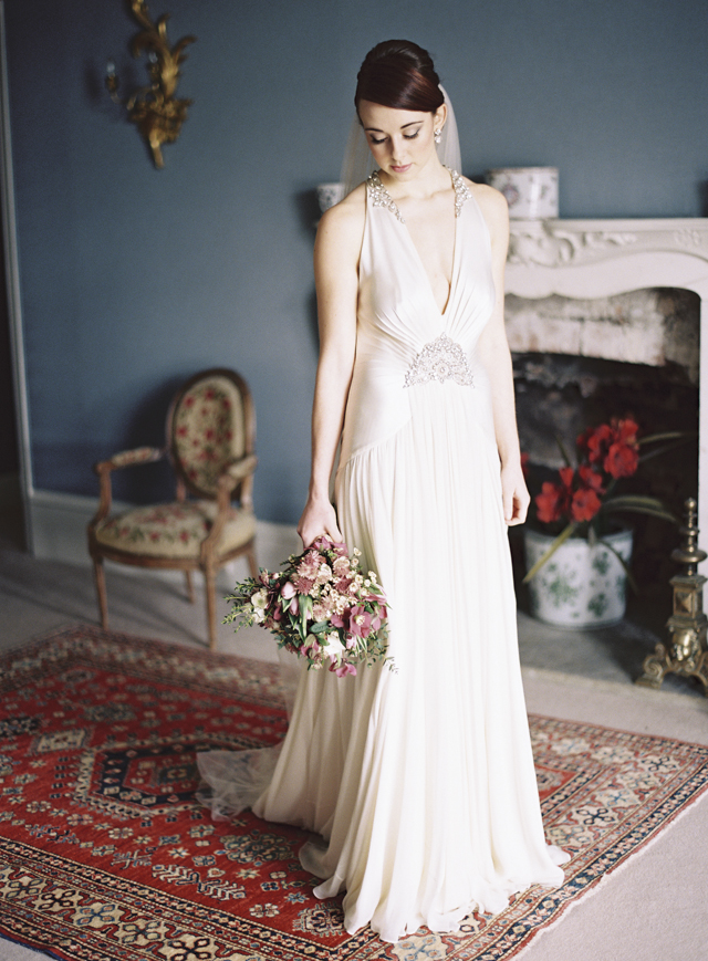 Jenny Packham wedding dress | Sarah Hannam | see more on: http://burnettsboards.com/2015/07/classic-wedding-silver-gold/