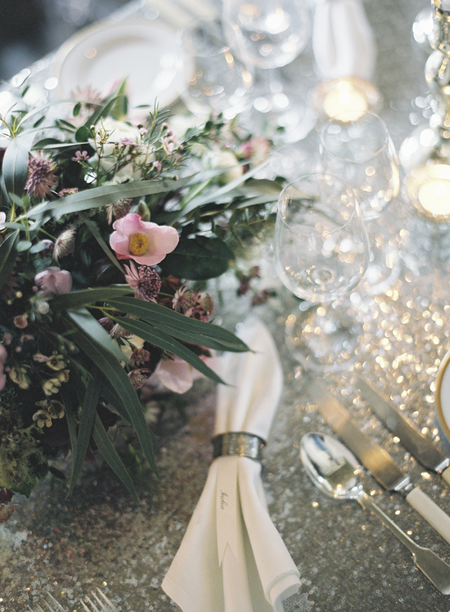 Silver place setting | Sarah Hannam | see more on: http://burnettsboards.com/2015/07/classic-wedding-silver-gold/