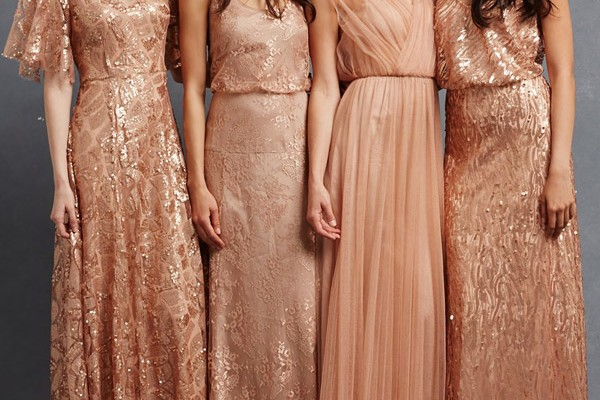 748ab6afa98 donna morgan bridesmaid dresses camilla natalya courtney emmy gowns flutter  sleeves blouson sleeveless peach copper rose. Donna Morgan Collection  recently ...