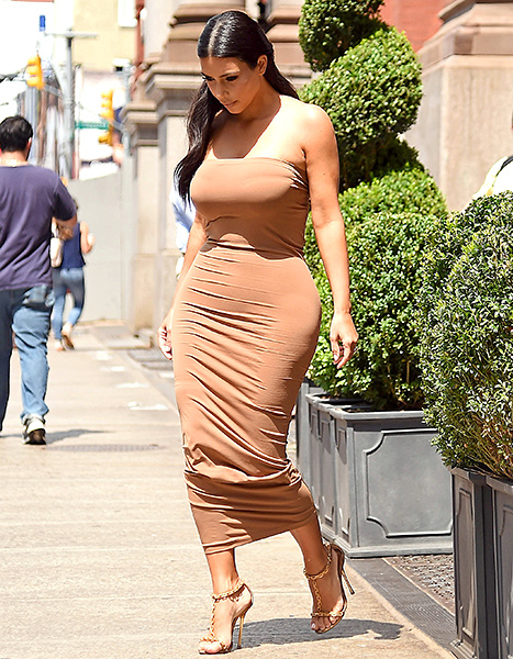 Kim Kardashian is seen on June 27, 2014 in New York City.