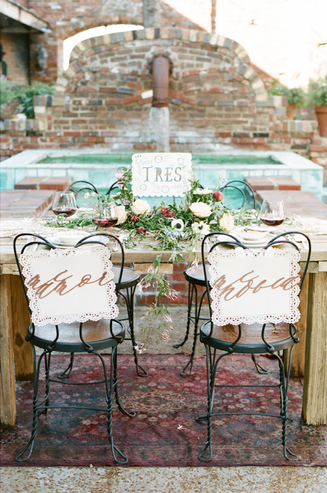 Spanish style wedding reception | White Rabbit Studios | see more on: http://burnettsboards.com/2015/07/spanish-styled-shoot/