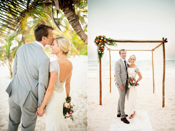 wedding portraits - photo by Cynthia Rose Photography http://ruffledblog.com/relaxed-destination-wedding-in-tulum