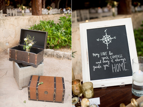 wedding chalkboard - photo by Cynthia Rose Photography http://ruffledblog.com/relaxed-destination-wedding-in-tulum