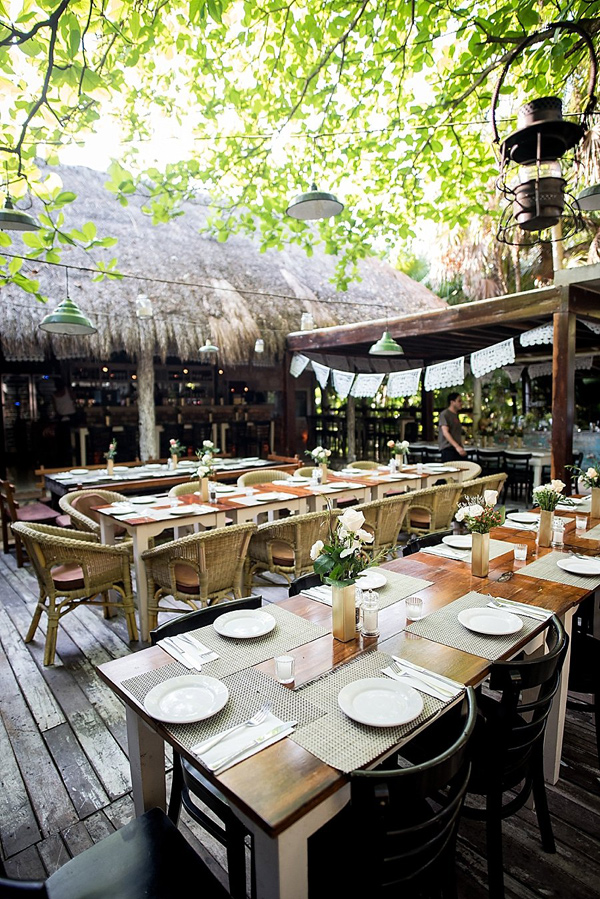 destination wedding reception - photo by Cynthia Rose Photography http://ruffledblog.com/relaxed-destination-wedding-in-tulum
