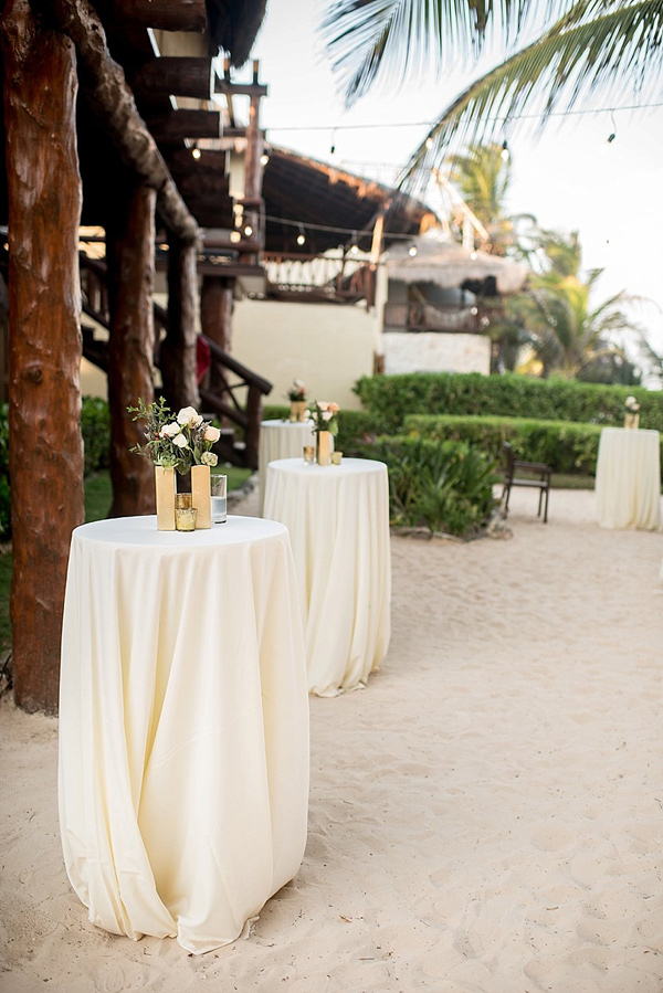 beach wedding reception - photo by Cynthia Rose Photography http://ruffledblog.com/relaxed-destination-wedding-in-tulum