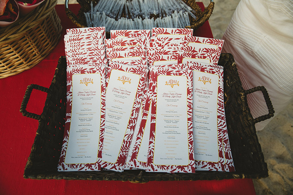 wedding programs - photo by Geoff Duncan http://ruffledblog.com/punta-mita-destination-wedding-and-rehearsal-dinner