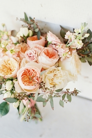 Peony and eucalyptus bridal bouquet | Jessica Sparks Photography | see more on: http://burnettsboards.com/2015/07/southern-fairytale-engagement-session/