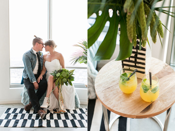 modern Los Angeles wedding shoot with greenery - photo by Jessica Lynne Photography http://ruffledblog.com/modern-los-angeles-wedding-shoot-with-greenery
