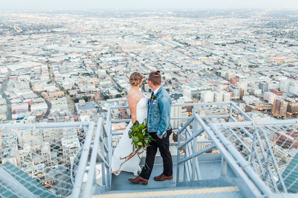 Modern 4th of July Summer Wedding Inspiration - photo by Jessica Lynne Photography http://ruffledblog.com/modern-los-angeles-wedding-shoot-with-greenery
