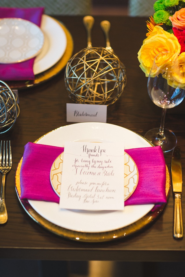 Kate Spade themed bridesmaids luncheon ⎪ Allen Tsai Photography ⎪ see more on: http://burnettsboards.com/2015/07/kate-spade-inspired-bridesmaids-luncheon/