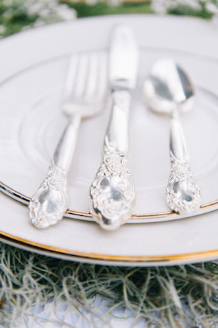antique silverware | Nicole Colwell Photography | see more on: http://burnettsboards.com/2015/07/ivy-bridal-session-planned-2-days/