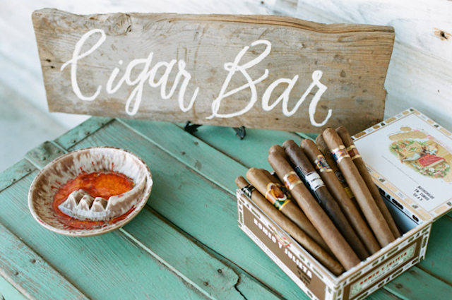 Wedding cigar bar | White Rabbit Studios | see more on: http://burnettsboards.com/2015/07/spanish-styled-shoot/