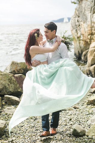 Seafoam wedding ideas | John Bello | see more on: http://burnettsboards.com/2015/07/disneys-mermaid-wedding/