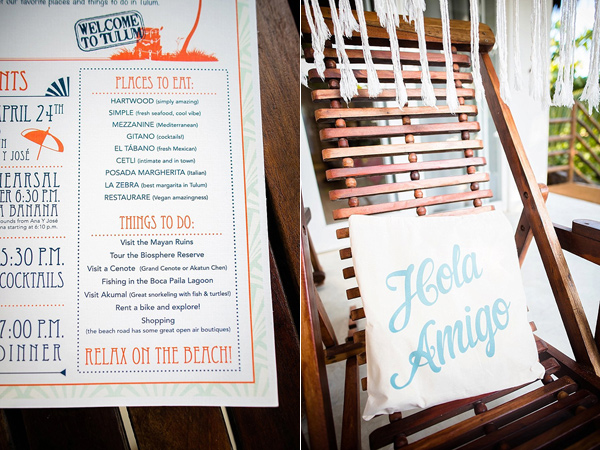 wedding paper goods - photo by Cynthia Rose Photography http://ruffledblog.com/relaxed-destination-wedding-in-tulum