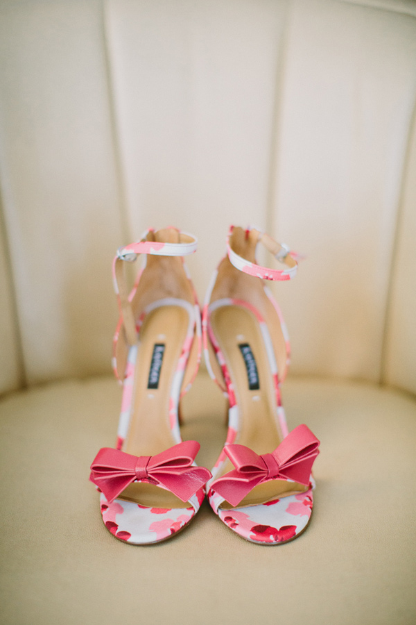 floral wedding shoes - photo by Caitlin Thomas Photography http://ruffledblog.com/a-green-pittsburgh-opera-wedding