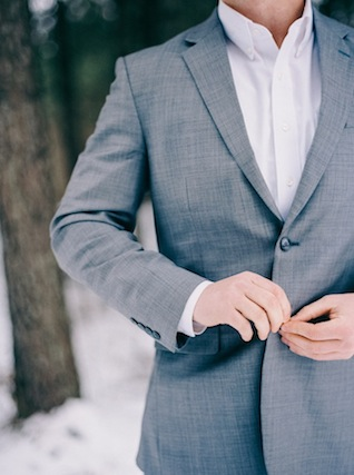 Grey suit for groom ⎪ Nikki Santerre Photography⎪see more on: http://burnettsboards.com/2015/07/pastel-pine/