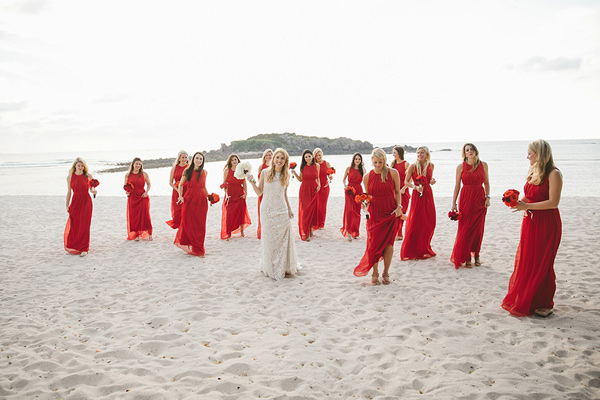 bride and bridesmaids - photo by Geoff Duncan http://ruffledblog.com/punta-mita-destination-wedding-and-rehearsal-dinner