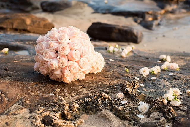 Rose ball ⎪Mikkel Paige Photography ⎪ see more on: http://burnettsboards.com/2015/07/lava-rock-bridals-hawaii/