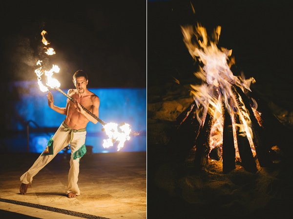 fire dancer - photo by Geoff Duncan http://ruffledblog.com/punta-mita-destination-wedding-and-rehearsal-dinner