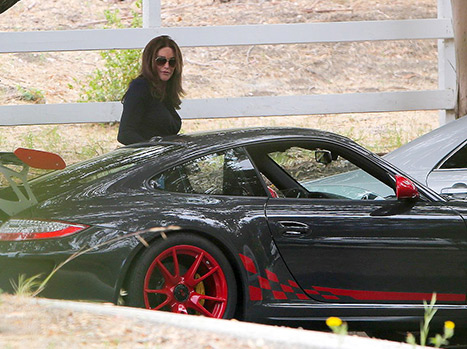 Caitlyn Jenner took her Porsche for a spin on July 3.