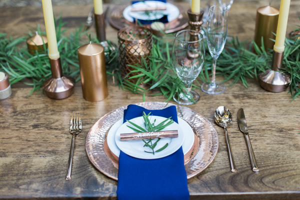natural woodsy and copper wedding inspiration - photo by Olivia Richards Photography http://ruffledblog.com/natural-woodsy-and-copper-wedding-inspiration