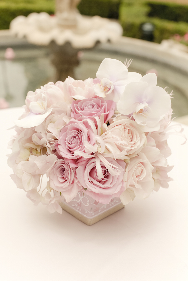 Low Blush Wedding Centerpiece