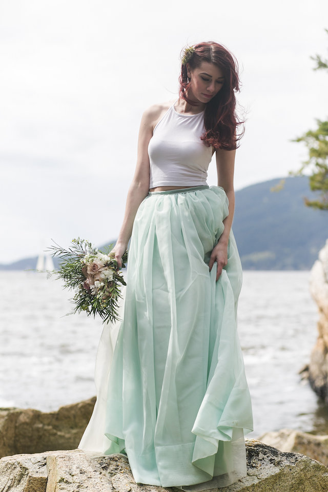Seafoam tulle skirt | John Bello | see more on: http://burnettsboards.com/2015/07/disneys-mermaid-wedding/