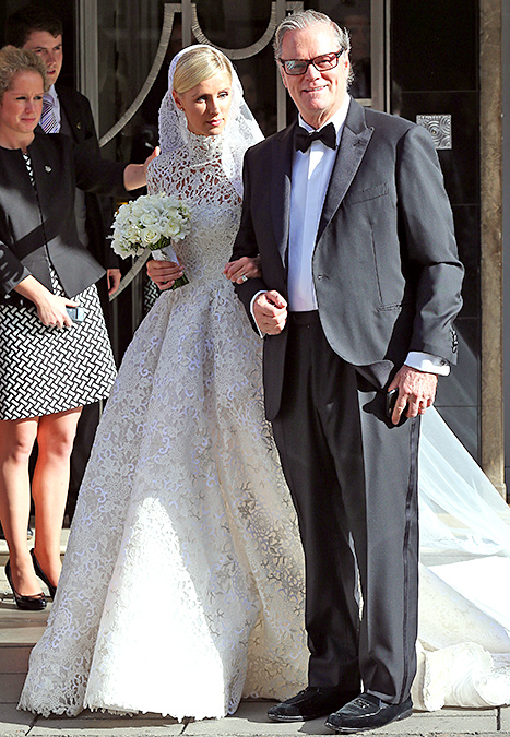 Nicky Hilton and Richard Hilton leave Claridges ahead of her wedding on July 10, 2015 in London, England.