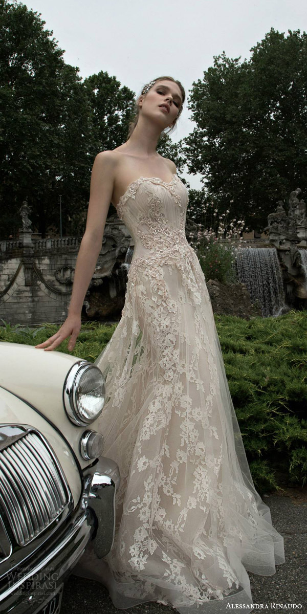 alessandra rinaudo 2016 bridal tanya strapless off white wedding dress horsehair hem