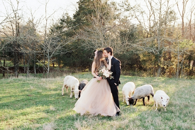 Blush and black engagement dress | Jessica Sparks Photography | see more on: http://burnettsboards.com/2015/07/southern-fairytale-engagement-session/