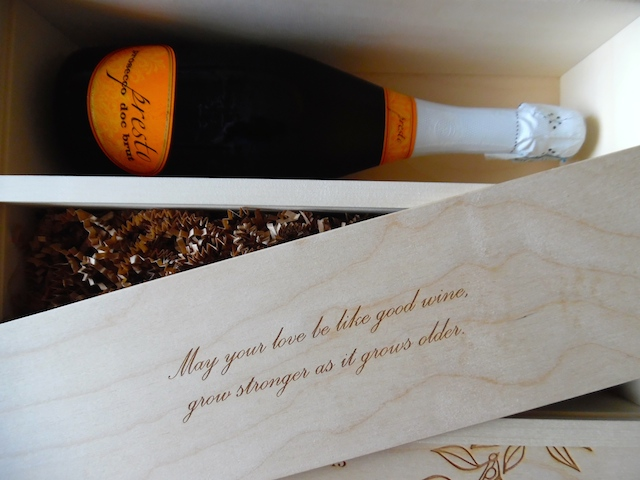 Wine For A Wedding - Anniversary Wine Box for newlyweds