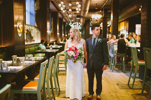 a green Pittsburgh Opera wedding - photo by Caitlin Thomas Photography http://ruffledblog.com/a-green-pittsburgh-opera-wedding