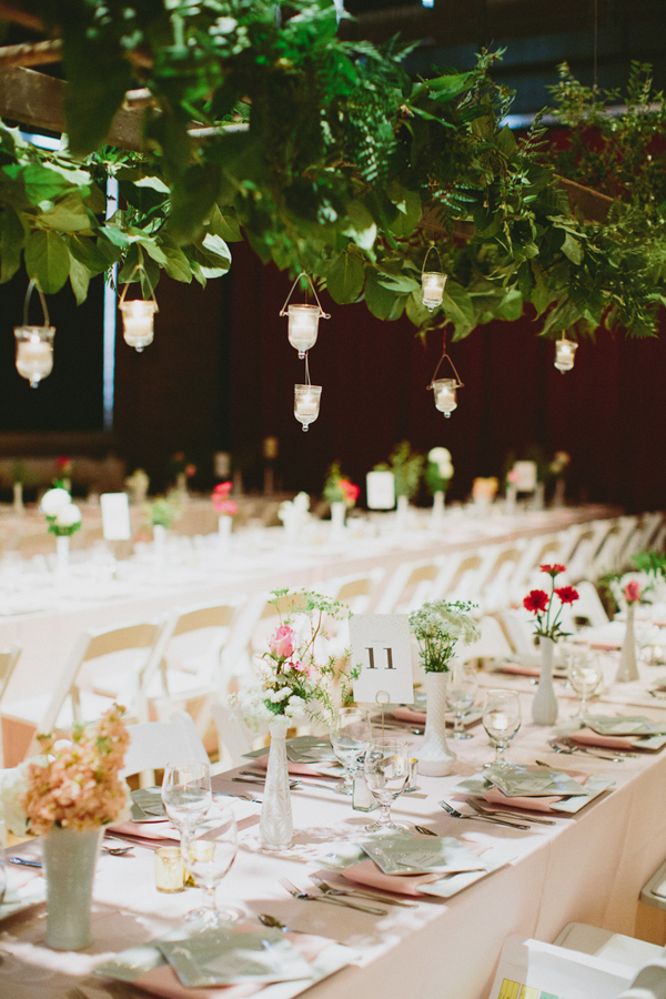 hanging candelight - photo by Caitlin Thomas Photography http://ruffledblog.com/a-green-pittsburgh-opera-wedding
